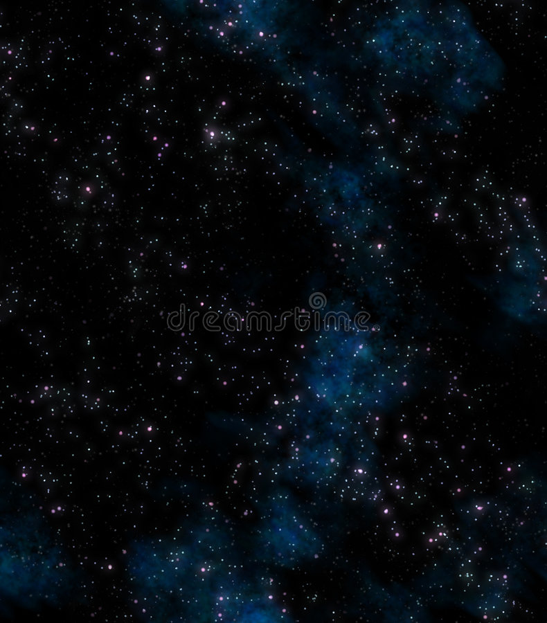 Stars in deep or outer space stock illustration