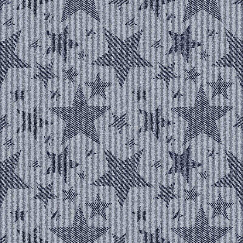 Stars on denim background. stock illustration