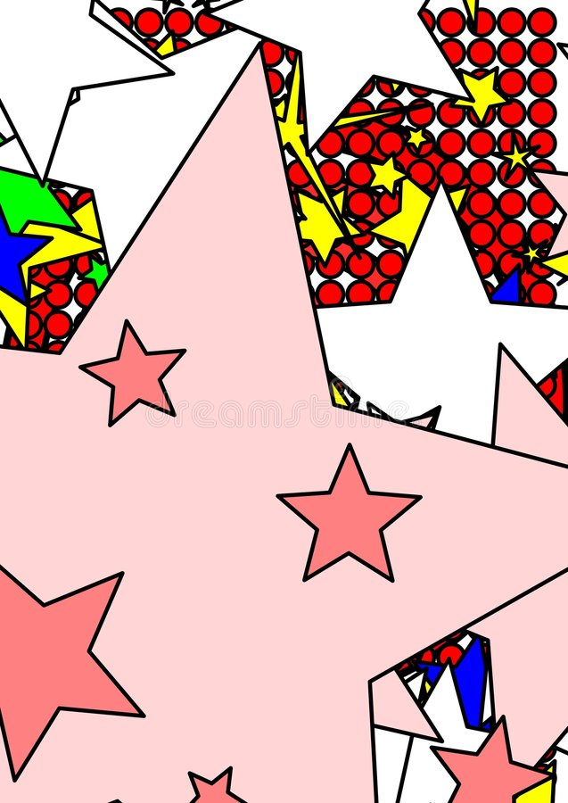 Stars and dots graphic vector illustration