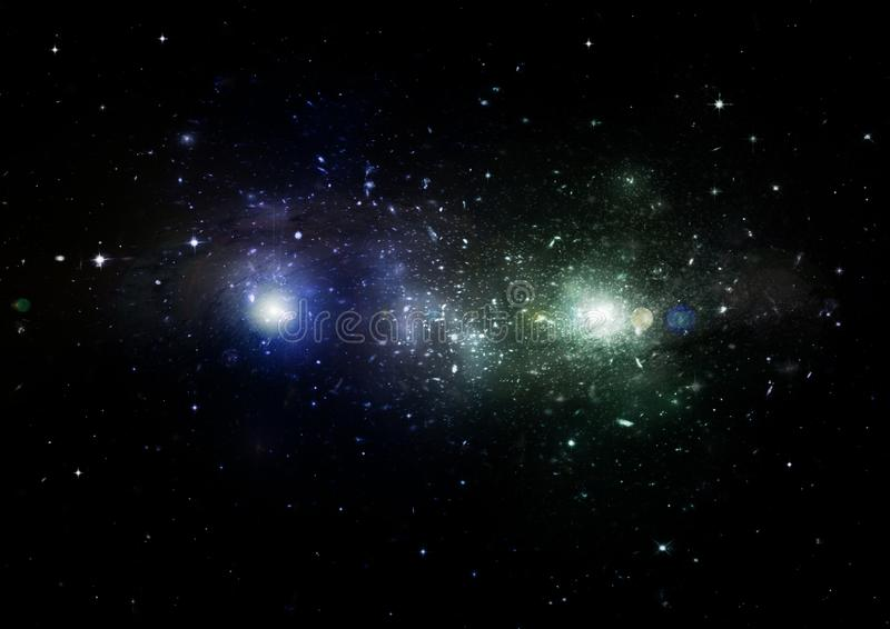 Stars, dust and gas nebula in a far galaxy. Elements of this image furnished by NASA stock illustration
