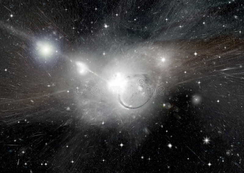 Stars, dust and gas nebula in a far galaxy. `Elements of this image furnished by NASA vector illustration
