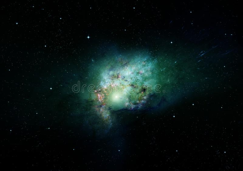 Stars, dust and gas nebula in a far galaxy. Elements of this image furnished by NASA vector illustration