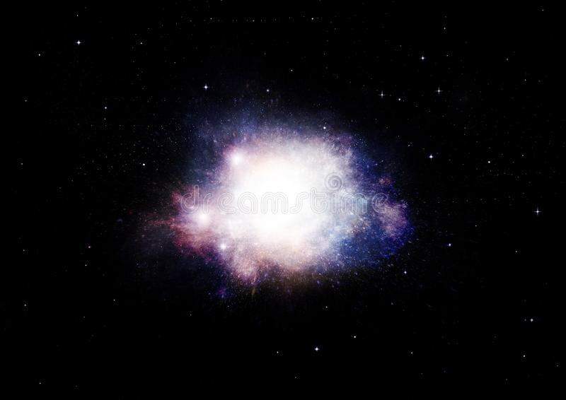 Stars, dust and gas nebula in a far galaxy. Elements of this image furnished by NASA royalty free illustration