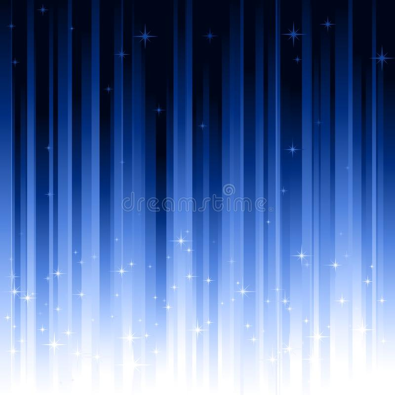 Stars el fondo verticalmente rayado del azul ilustración del vector