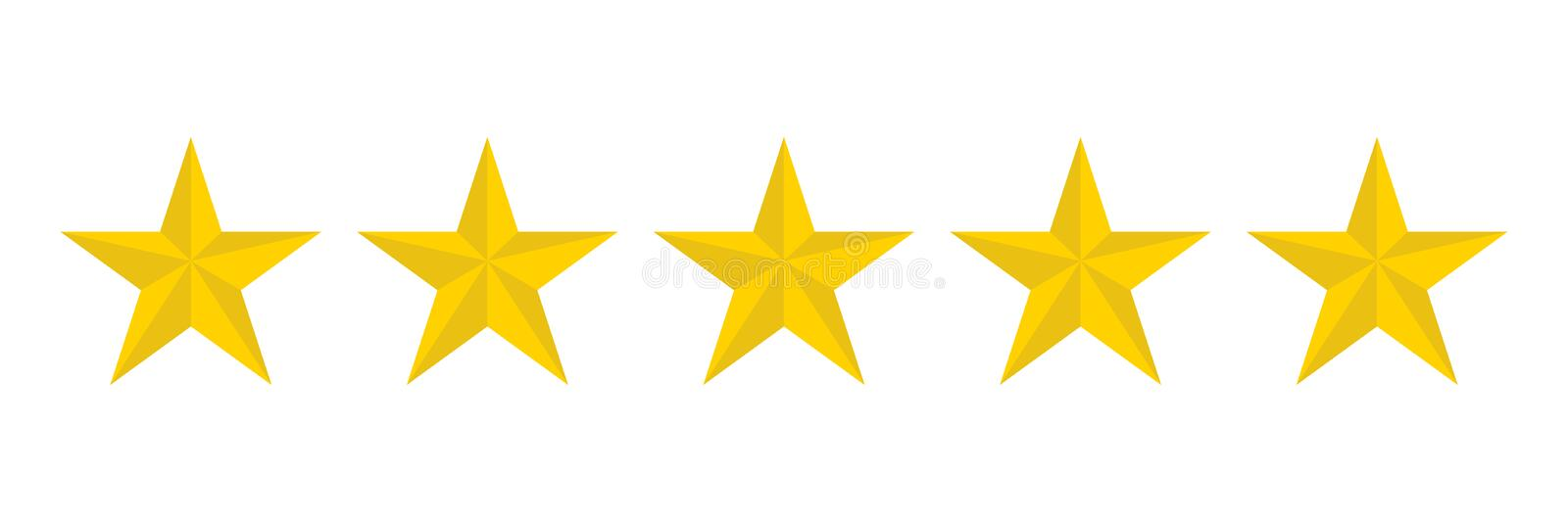 Stars five icon on a white background, vector illustration stock illustration