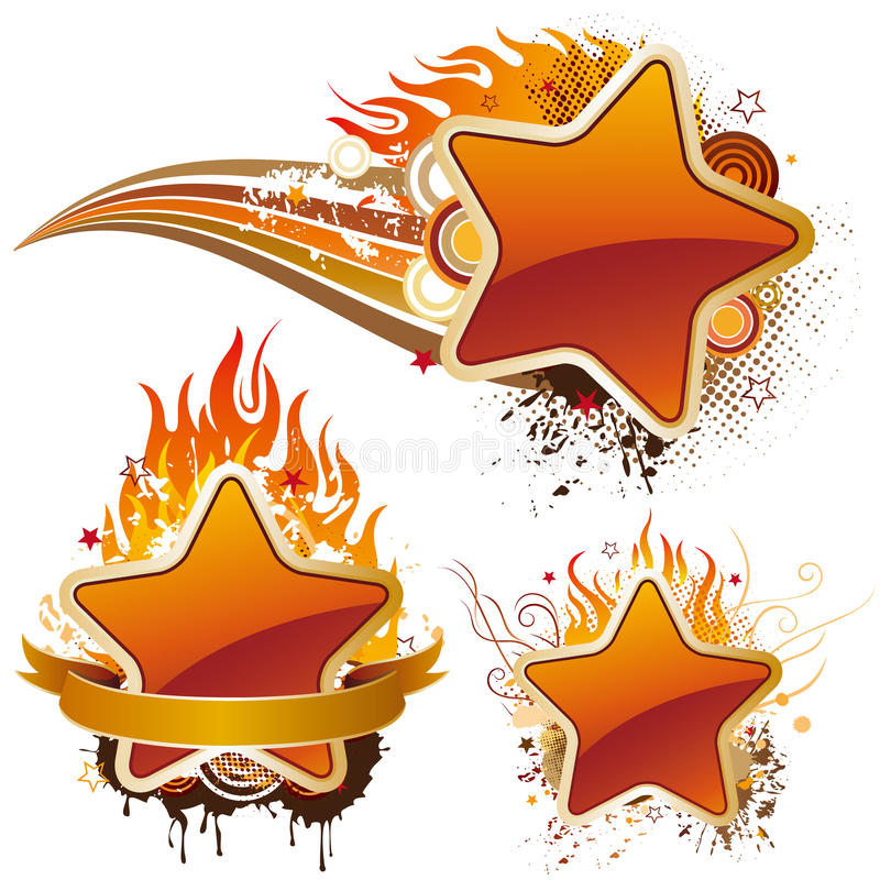 Stars and flame. Illustration-stars and flame royalty free illustration
