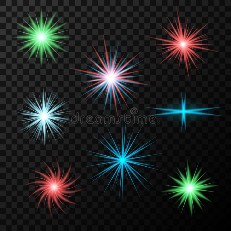 Stars and flares abstract shapes for design. royalty free illustration