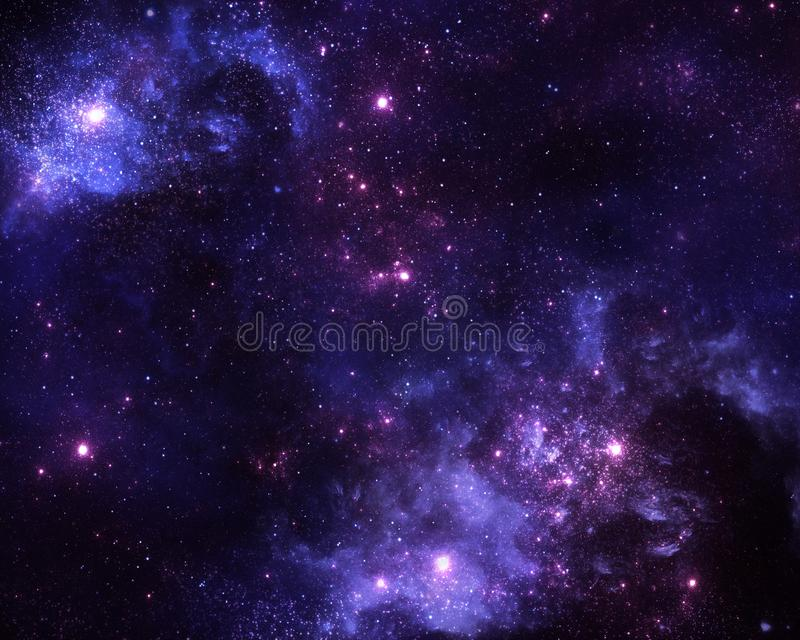 Blue nebula, space and universe. Stars, galaxies and nebula, vibrant space scene royalty free illustration