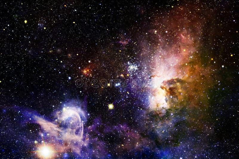 Stars, galaxies and nebulas in awesome cosmic image. Elements of this image furnished by NASA vector illustration