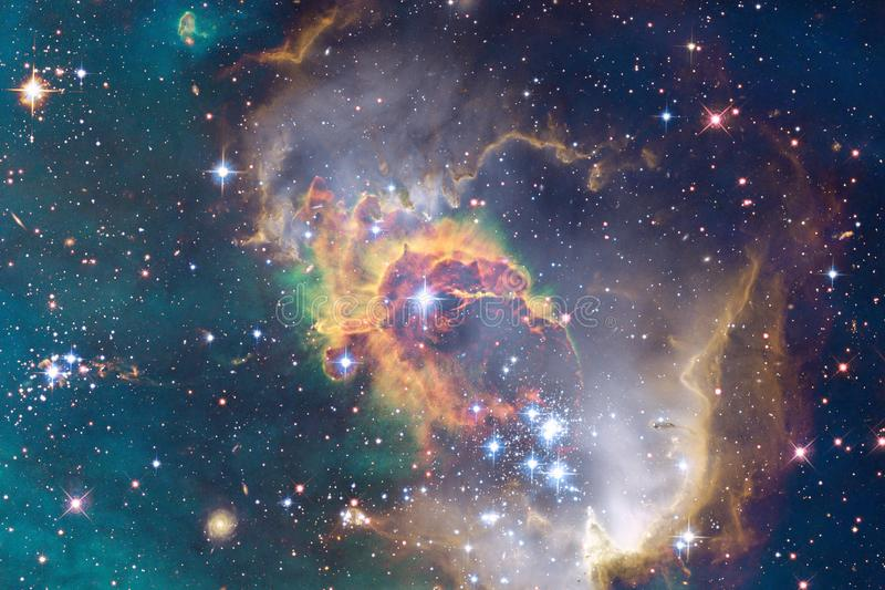 Stars, galaxies and nebulas in awesome cosmic image. Elements of this image furnished by NASA royalty free illustration