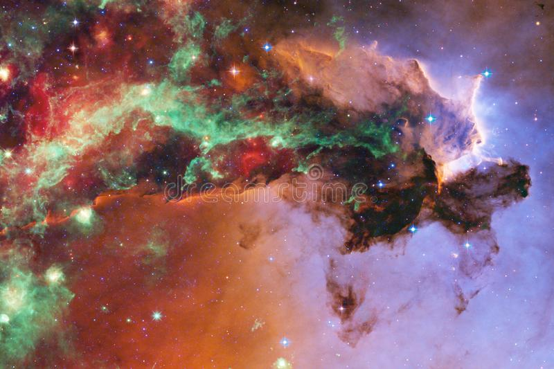 Stars, galaxies and nebulas in awesome cosmic image. Elements of this image furnished by NASA.  royalty free illustration