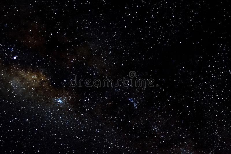 Stars and galaxy outer space sky night universe black starry background, starfield. Stars and galaxy outer space sky night universe black starry background of stock photos