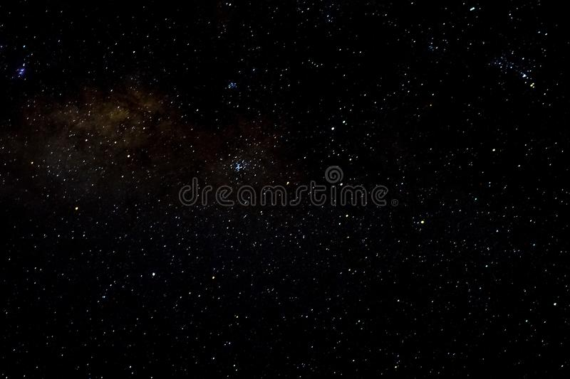 Stars galaxy outer space sky night universe black starry background stock image