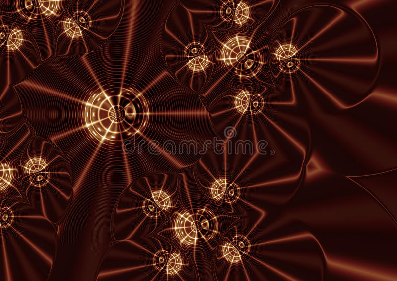 Stars on Gold Background Illustration. Background with stars and wavy lines on Gold background - Color Gamut looked at and corrected vector illustration
