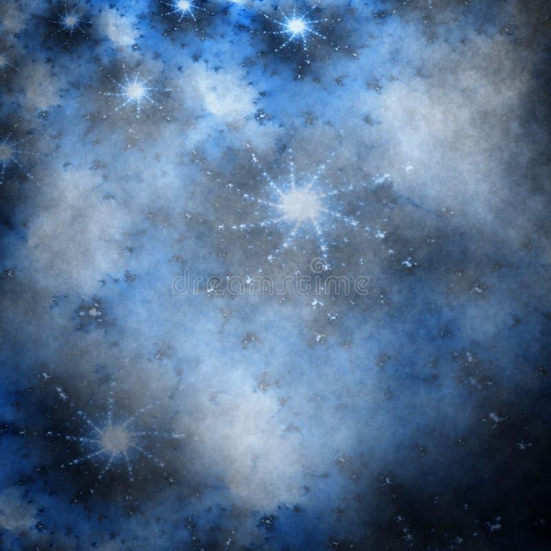 Stars on grungy sky vector illustration