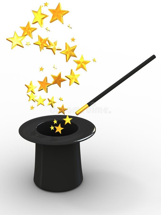 Stars from hat vector illustration