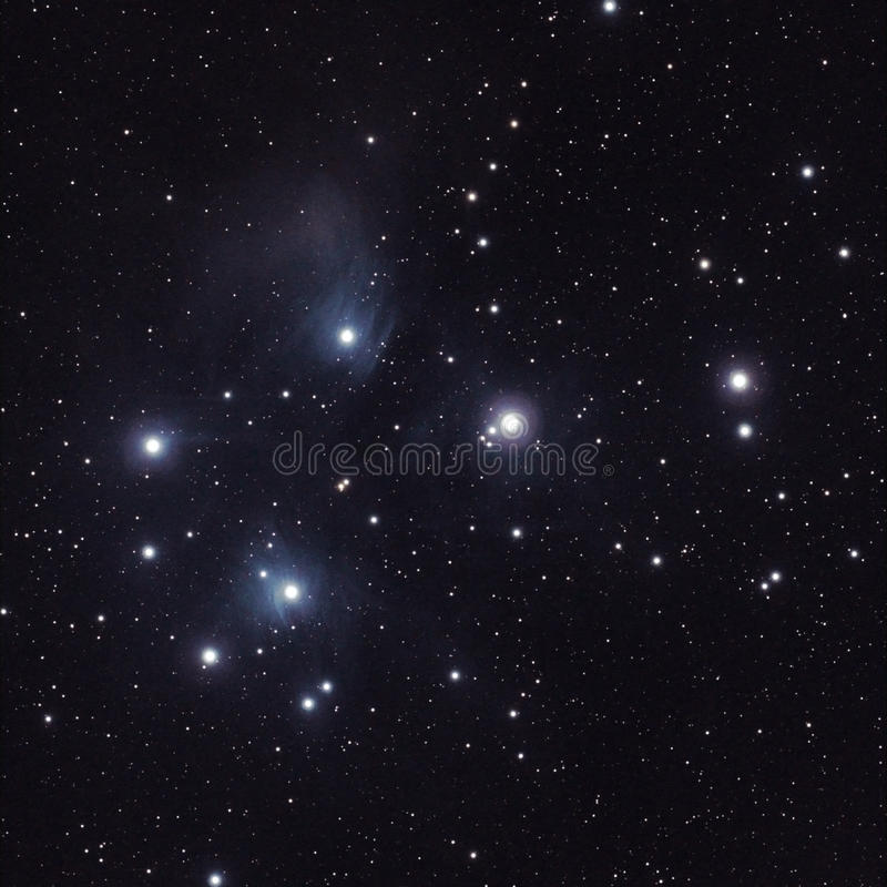 Free Stars In The Pleiades (M45) Stock Photography - 27736452