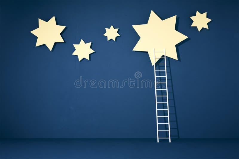 Stars and ladder vector illustration