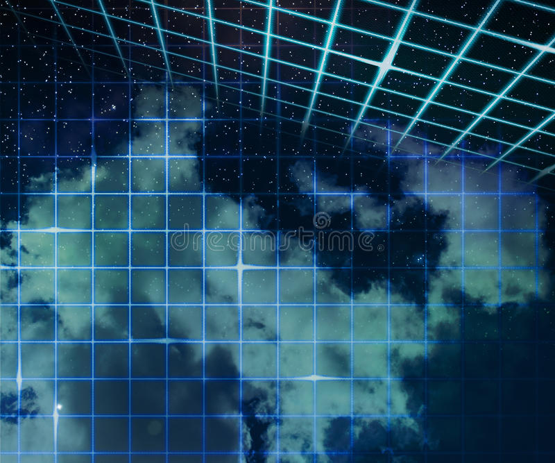 Download Stars On Laser Sky Abstract Space Background Stock Illustration - Image: 26326128