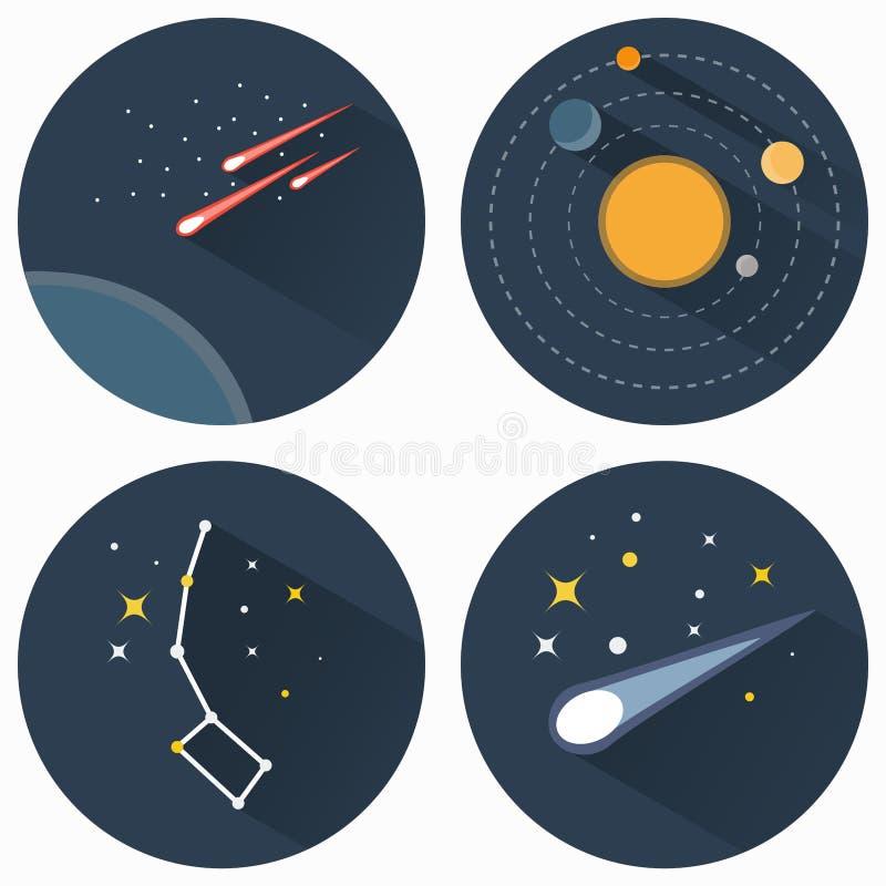 Stars le icone delle costellazioni illustrazione di stock