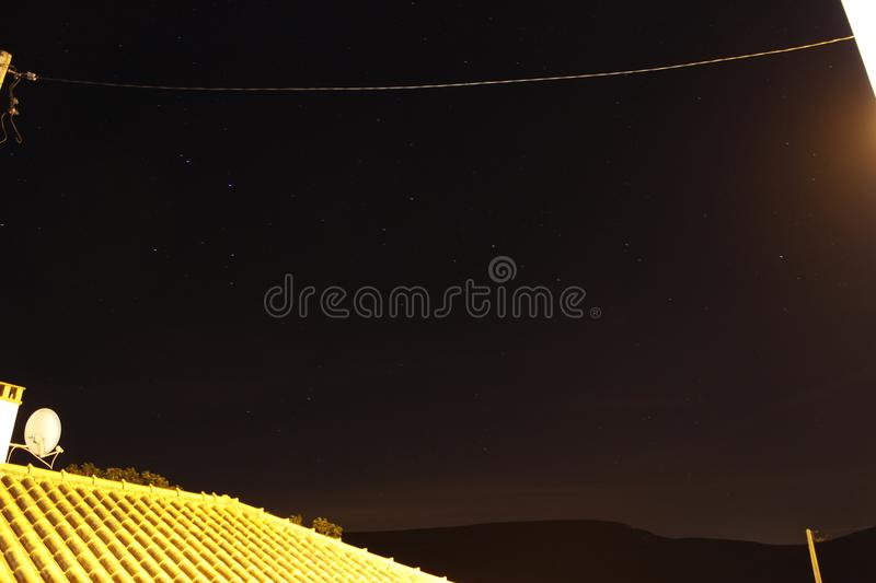 Stars. LongExposure of the sky in Alcaria, Portugal stock image