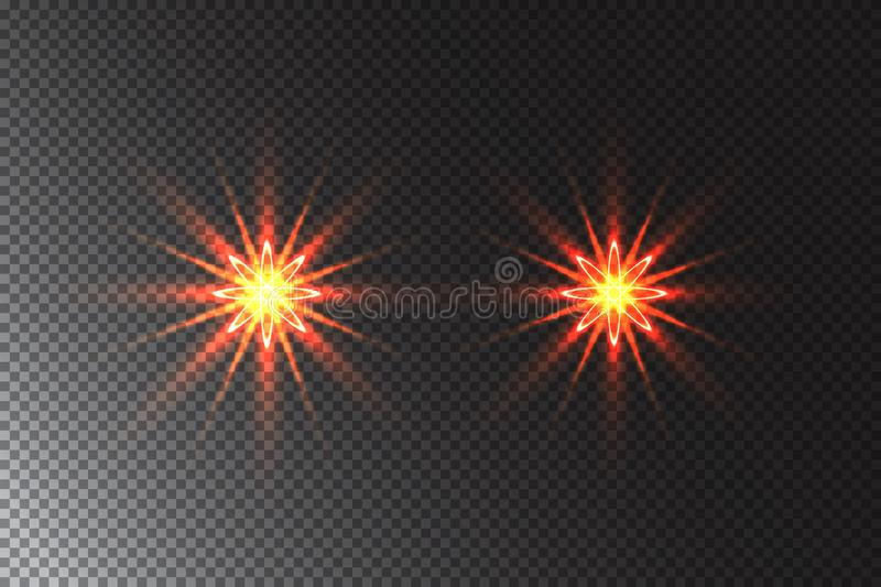 The stars are made of oval. Light effects glow. Star flashed sequins. Abstract space background. Flash Highlight beam. Fantastic design vector illustration