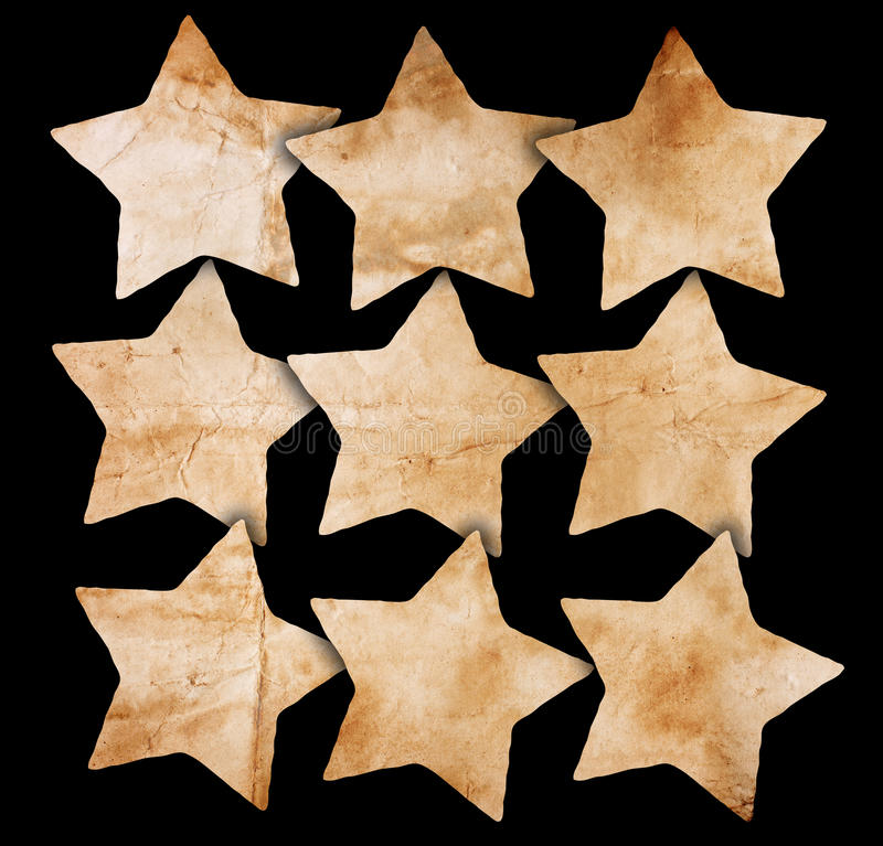 Stars made from paper royalty free stock photography