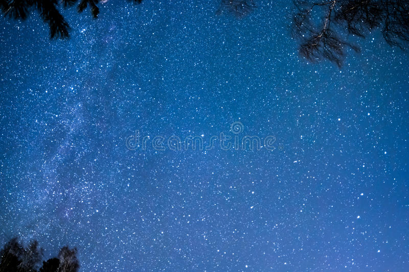 The stars and the Milky Way stock photo