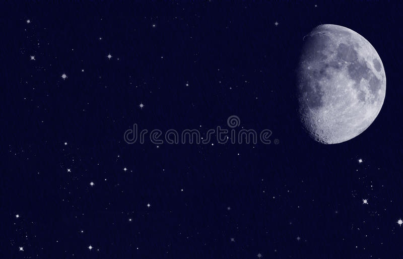 Stars with moon royalty free stock photos