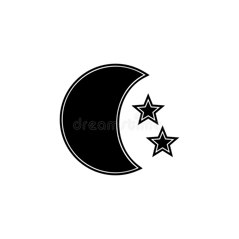 Stars And Moon Icon Element Of Space Icons Premium Quality Graphic