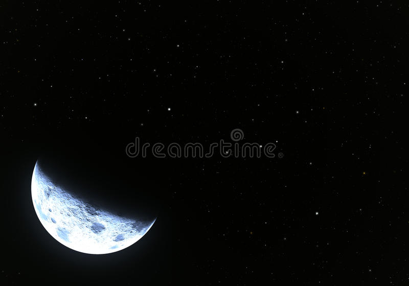 Stars with moon vector illustration