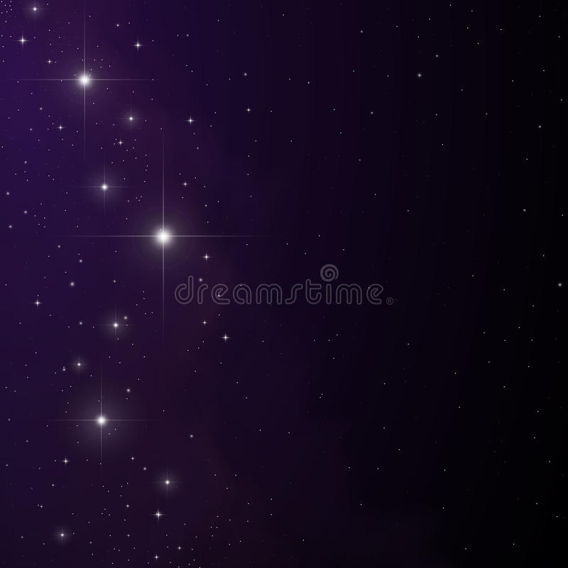 Stars and nebula vector. (eps10) Gradient meshes used vector illustration