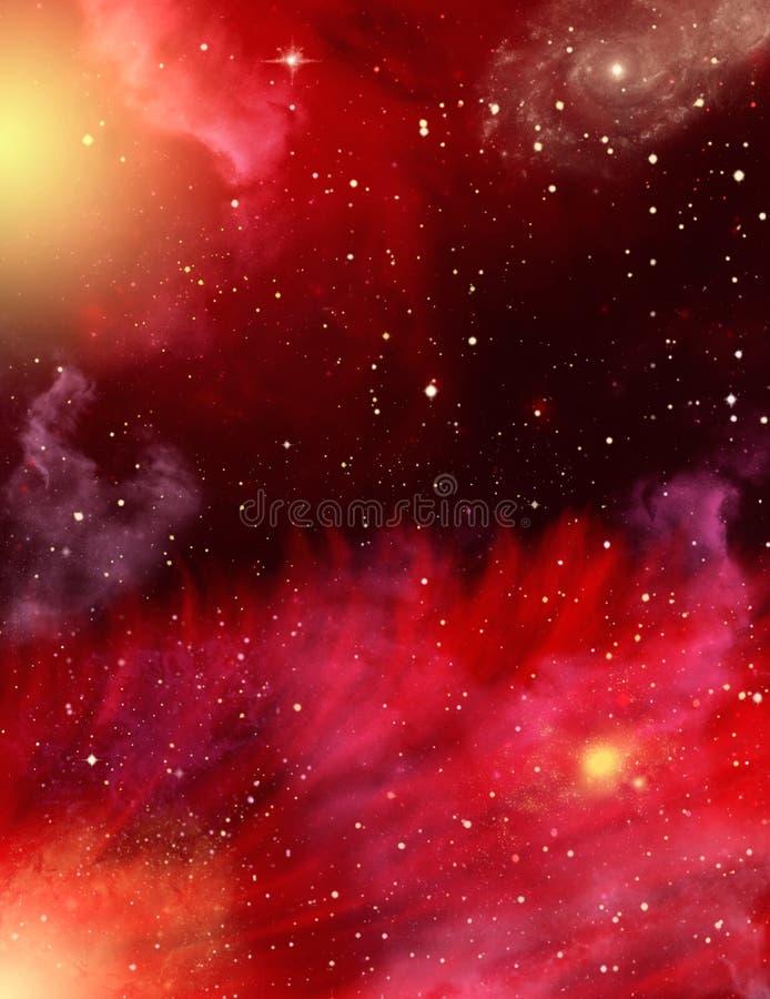 Stars and Nebulae stock illustration