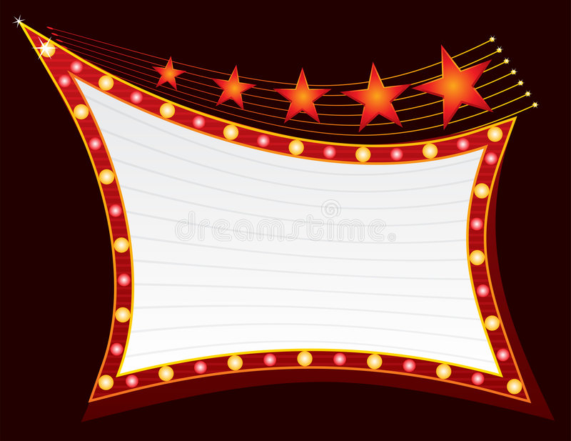 Download Stars at neon stock vector. Image of cinema, isolated - 7855935
