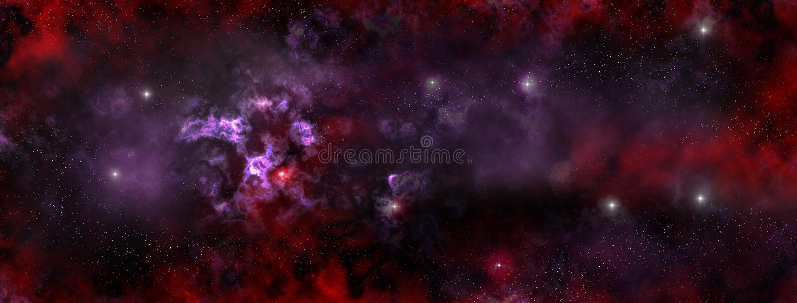 Stars Nebula in the deep Space vector illustration