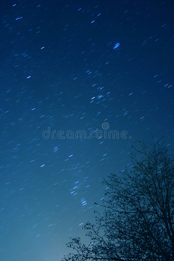 Stars at night stock photo