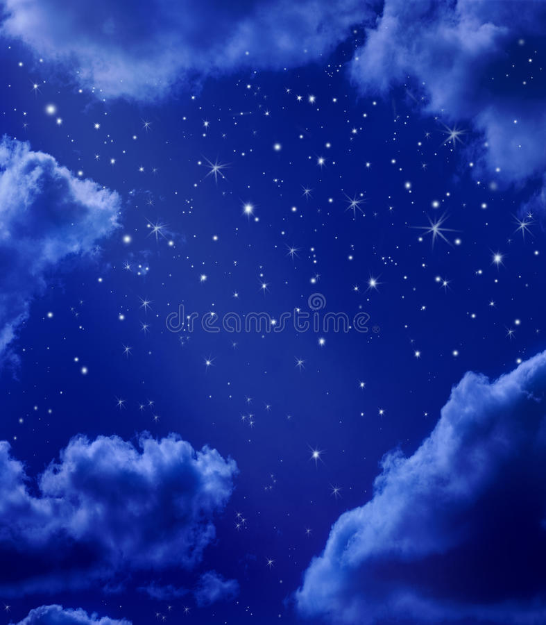 Stars In Night Sky vector illustration