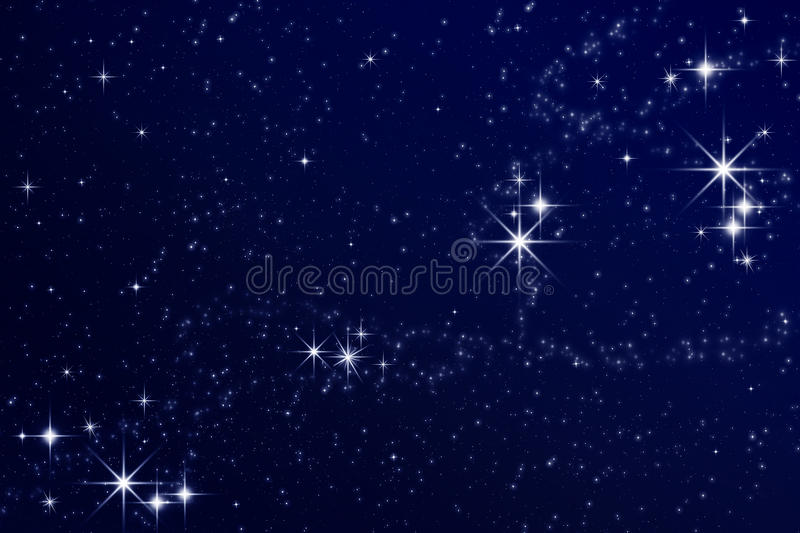 Stars in the night sky stock photography