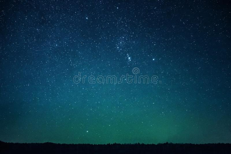 Stars in Night Sky stock images