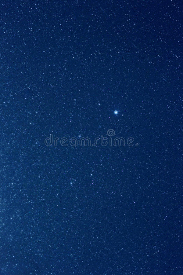 Stars in night sky royalty free stock photography