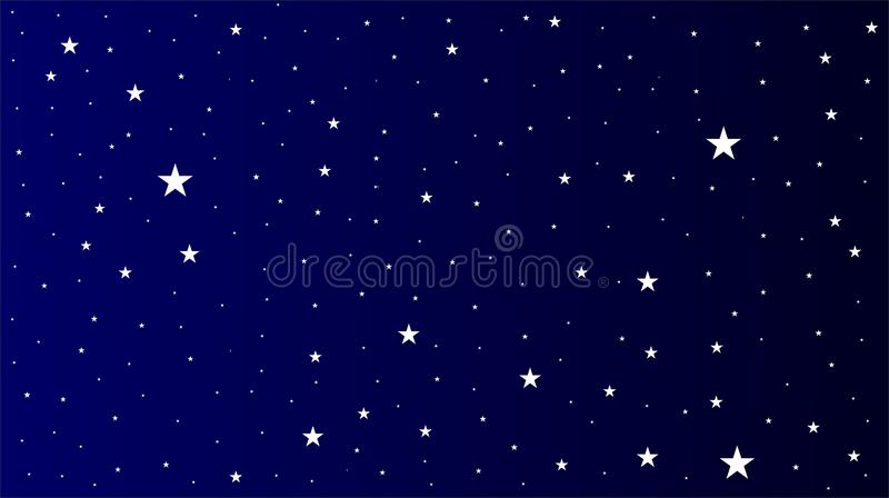 Stars night sky view with background. Many uses for advertising, book page, paintings, printing, mobile wallpaper, mobile backgrounds, book, covers, screen royalty free illustration