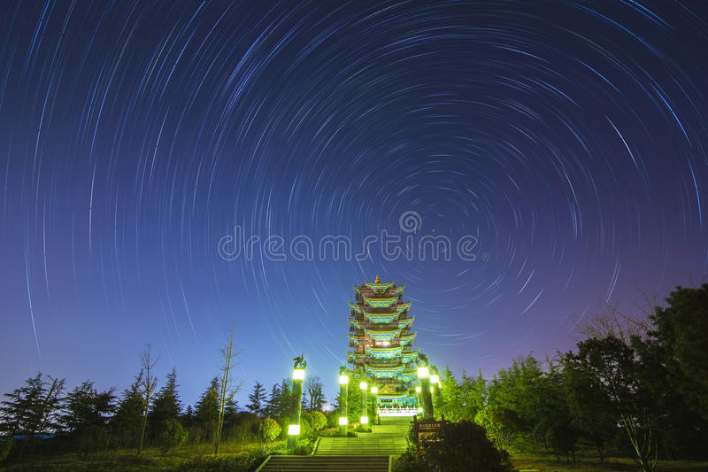 The Stars night of startails royalty free stock image