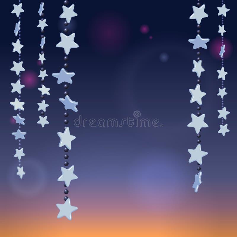 Stars a noite ilustração do vetor