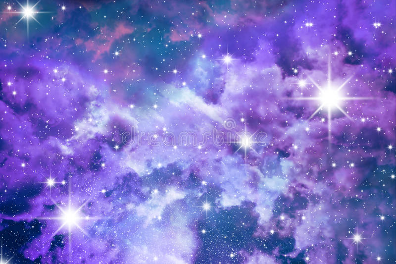 Stars o azul de céu ilustração stock