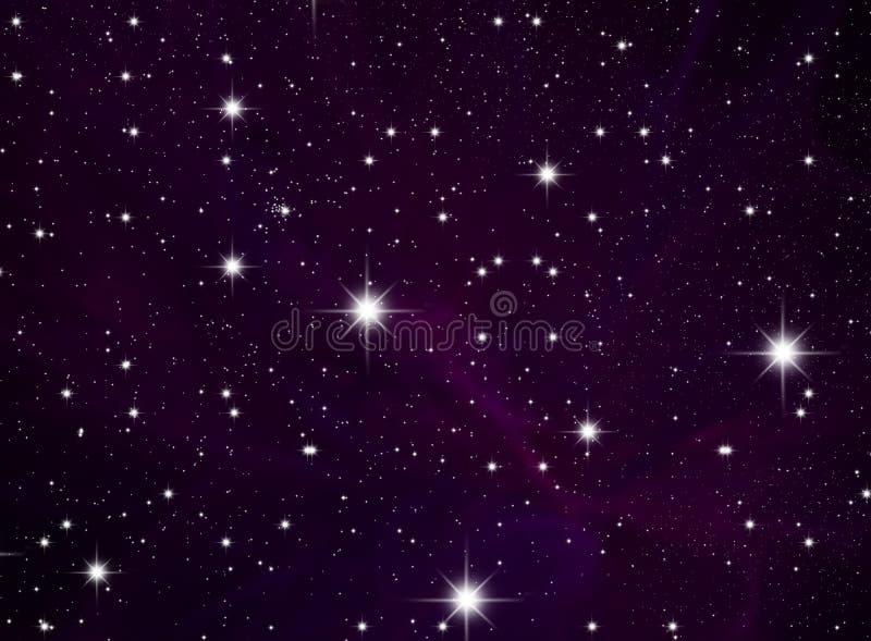 Stars o céu ilustração do vetor