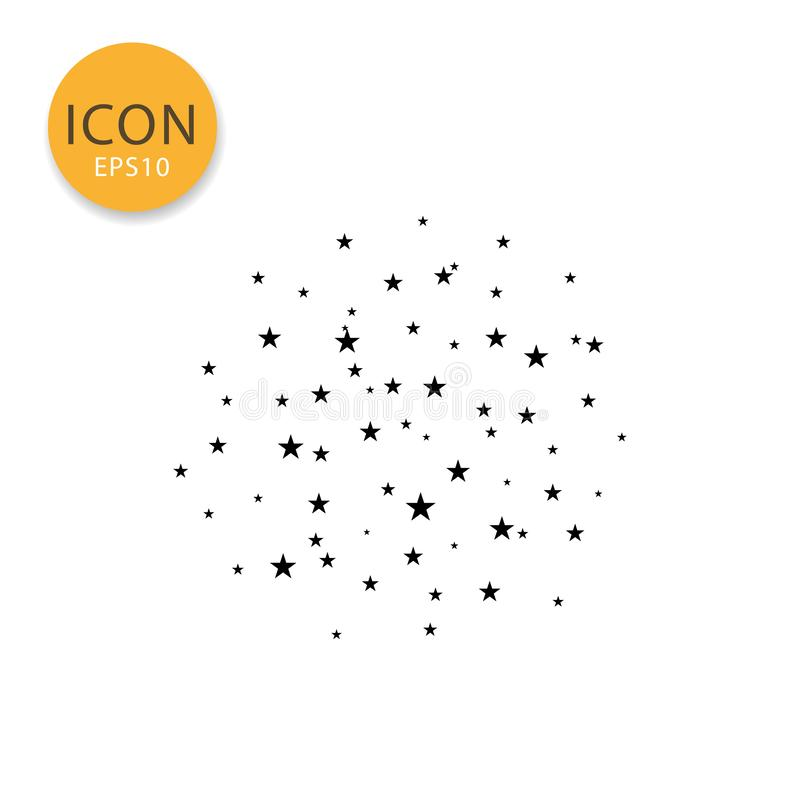 Stars o estilo liso isolado ícone do céu ilustração royalty free