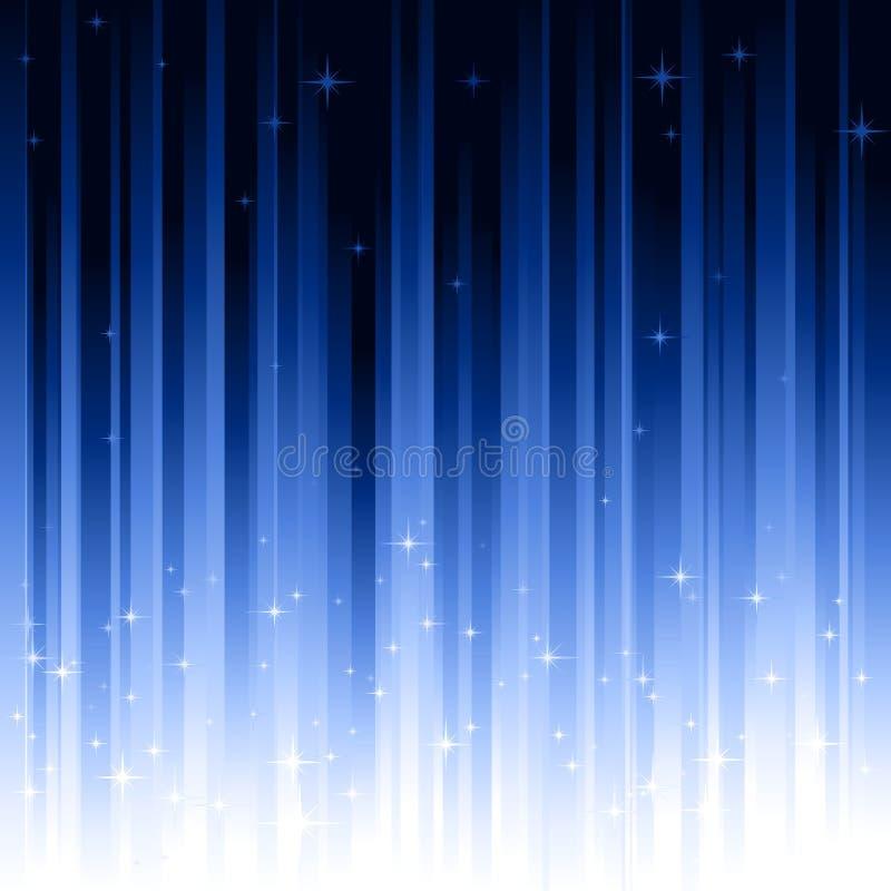 Stars o fundo verticalmente listrado do azul ilustração do vetor