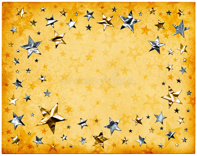Stars on Old Paper vector illustration