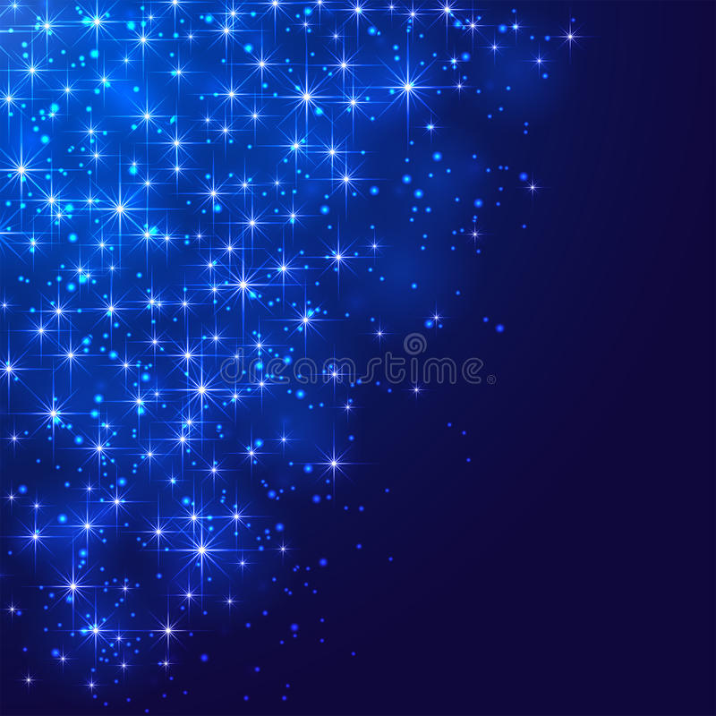 Free Stars On Blue Background Stock Images - 41816044