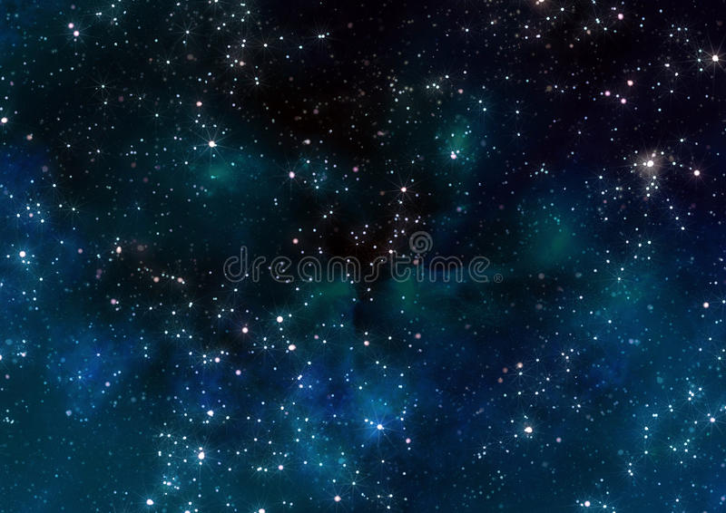 Stars in outer space stock illustration